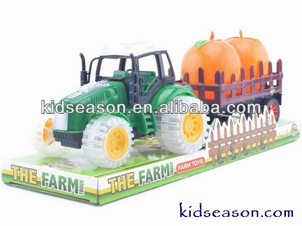FRICTION PLASTIC TOYS FARM TRACTOR