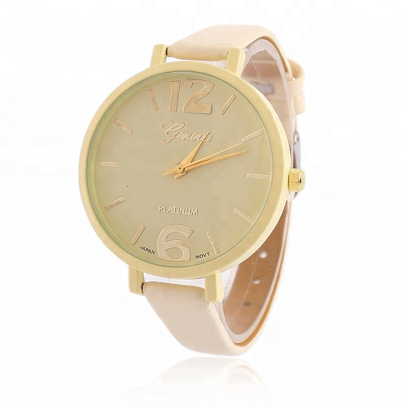 Fashion Simple life style Shenzhen current type quartz dress watches elegant stainless steel PVD Rose Gold lady watch
