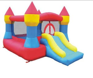 customized inflatable jumping castle with red carton and inflatable bouncer