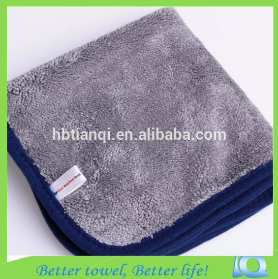Microfiber car 1000gsm cleaning cloth dry blue 40x40