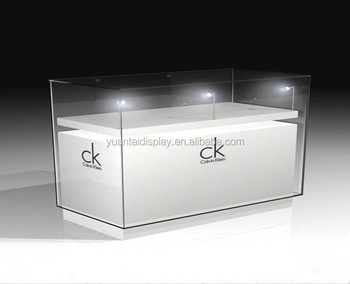 High End Counters Mdf White Gloss Gl Jewelry Watch Boutique Display Cabinet