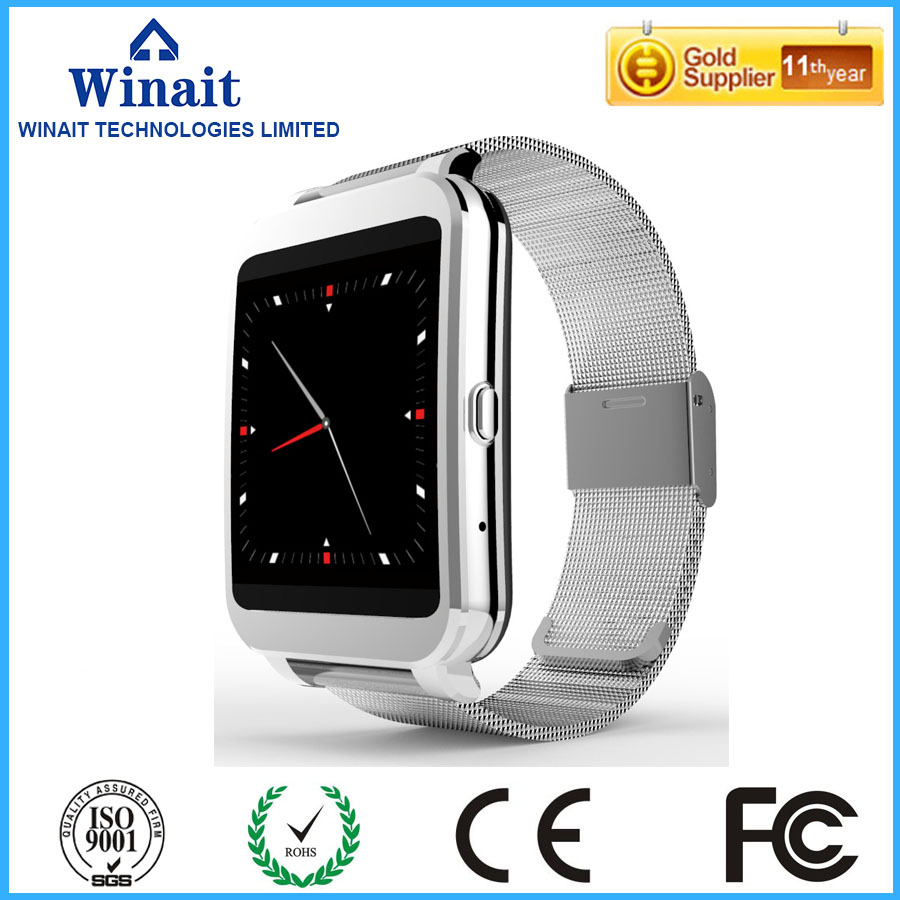 i95 android smart watch phone with metal band and hands up wake up display watch