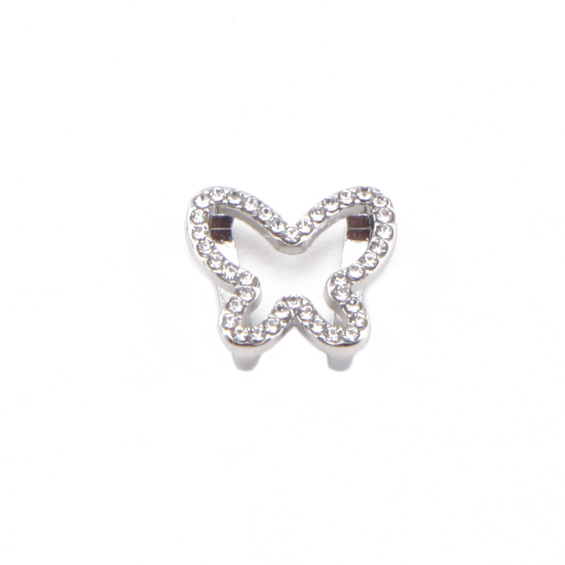 Cheap Personalized Custom DIY Hand Shape Metal Silver Charm