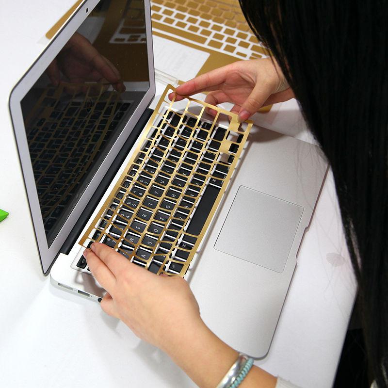 2017 Fashion Laptop Sticker DIY Personality PVC Skins Waterproof ABC  Sides+Keys+Key Interstice