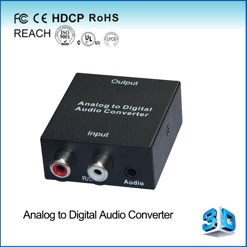 Analog to Digital audio converter Support optica l/coaxial input 3.5mm audio and R/L output