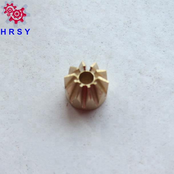 Small brass pinion gear M0.2,M0.3,M0.4,M0.5,M0.6,M0.7,M0.8