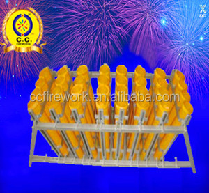 32 shots 4 inch fireworks display shells racks/mortar tubes rack