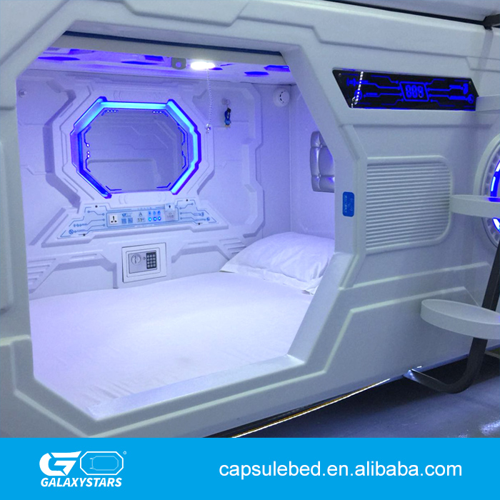 Modern container house capsule pod bed sleepbox pod ABS plastic capsule hotel