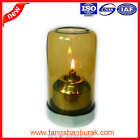 Aurora decorative glass wicks paraffin oil table lamp for restaurant