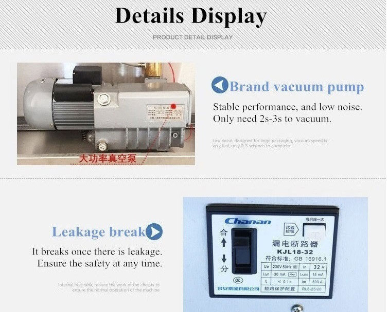 2017 New Version Vertical External Nitrogen Filling Vacuum Sealing Packaging Machine With 4 Filling Nozzle