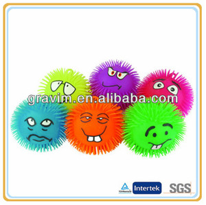 Animal cute puffer ball toy