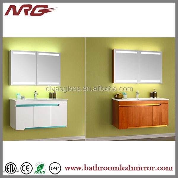 Ultra-slim Led Illuminated Bathroom Mirrors Frameless Beveled ...