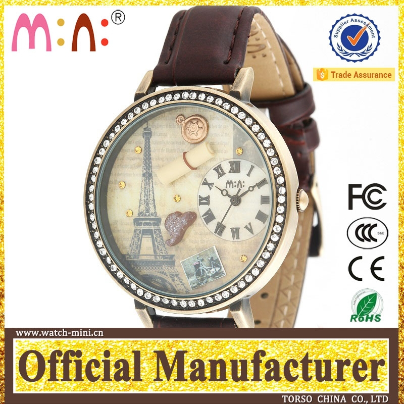 Korea mini world watch timepiece rubber colored water resistant wrist clock