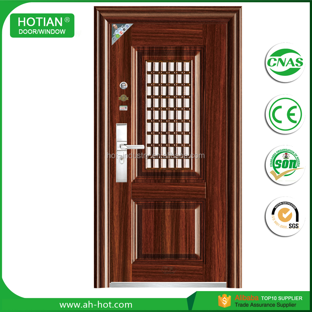 Ce Elegant Modern Style Main Gate Designs Metal Grill Door Design