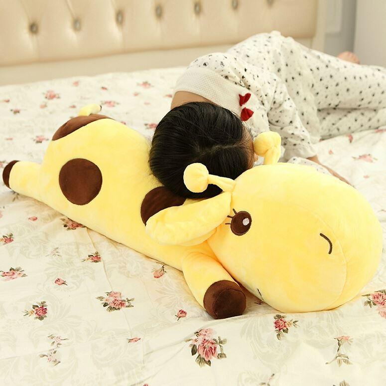 1pc 35cm Plush Lie Giraffe Pillow Staffed Deer Plush Toy Nap Pillow Baby Toy Christmas Gift High Quality