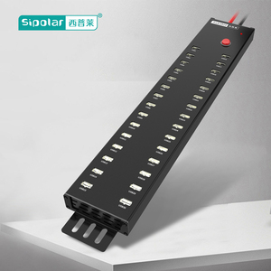 Sipolar black aluminum 30 port usb hub promotion usb charger hub with BC 1.2 Charging Port up to 5V 2.1A A-812
