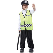 7 Sets lot Free Shipping Traffic Police Costumes Kids Halloween Carnival Masquerade font b Fancy b