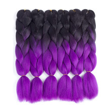 High Grade Popular Low Price Colored Synthetic Braiding Hair Extensions