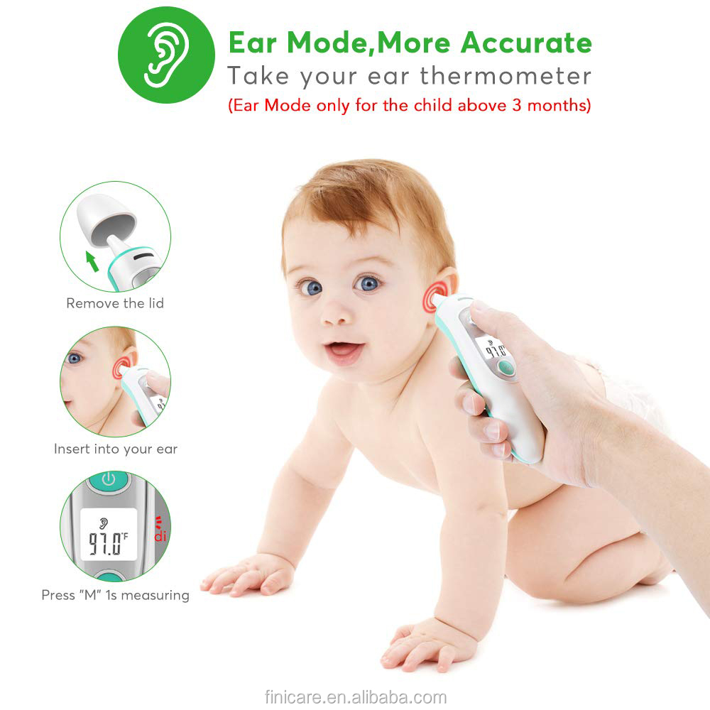 Instant reading digital thermometer for children with LCD hot selling item IR-100 forehead and ear infrared thermometer - KingCare | KingCare.net