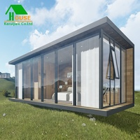 Design whole glass door prefab living container house\hotel
