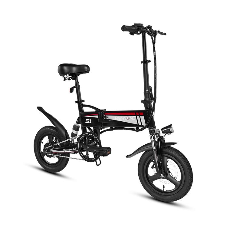 2019 Electric Bike Folding E Bike 14 Inch Foldable Black Mini E - Bike фото
