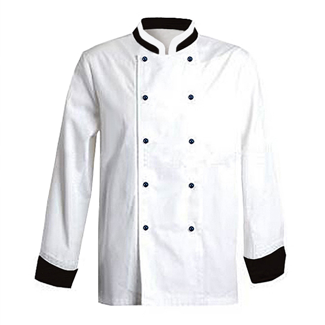 2019 Traditional Red 100% Cotton Chef Jacket Cheap Long Sleeve Formal Cook Uniforms Tops Men's Indian Restaurant Uniform