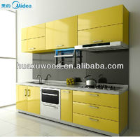 Bright yellow modern whole kitchen cabinet