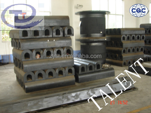 semi cylinder D boat rubber fender for dock