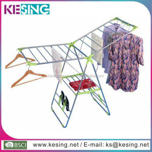 Butterfly shape folding stainless steel clothes dry rack