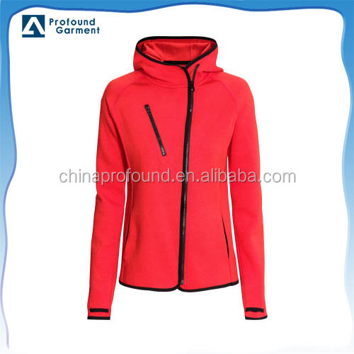 newest fashion women sportswear with front panel zipper design