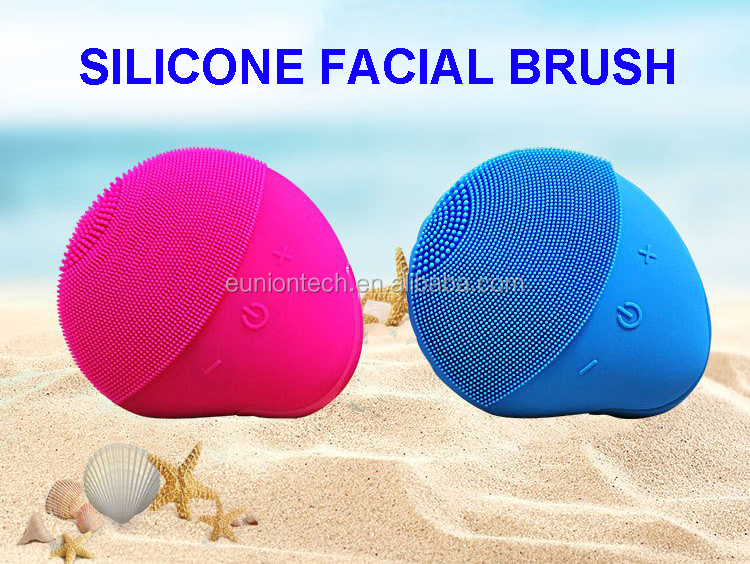 Lady Daily Facial Cleansing Tools Soft Silicone Electronic Sonic Face Exfoliate Brush Rechargeable Face Washing Brush