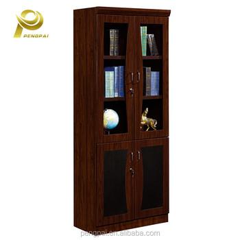 nieuwe model glazen deur kantoor houten vullen kasthout boekenkast met slot