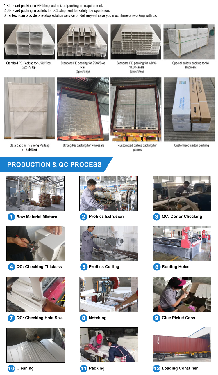 Top Chất Lượng 6x8 ft Màu Trắng Nhựa PVC/Vinyl Giá Rẻ Bảng Điều Chỉnh Sự Riêng Tư Hàng Rào Panels đối với bán