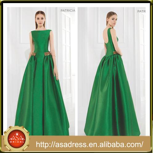 Vestidos de noche color verde