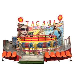 Family Machine Fairground Equipment Amusement Theme Park Crazy Rotating Music Game Turntable Play Rides Disco Tagada