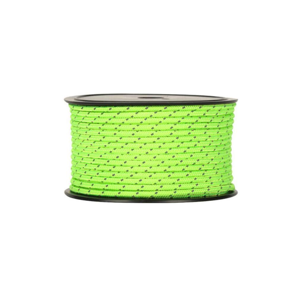 YaXuan 5 Mm Reflective Cord Tent Guide Rope Nylon Cord for Outdoor Camping and Hiking Fluorescent Green, Orange Red, Blue 20 Meters, 30 Meters, 50 Meters (Color : Blue, Size : Diameter 6 mm/20 M)