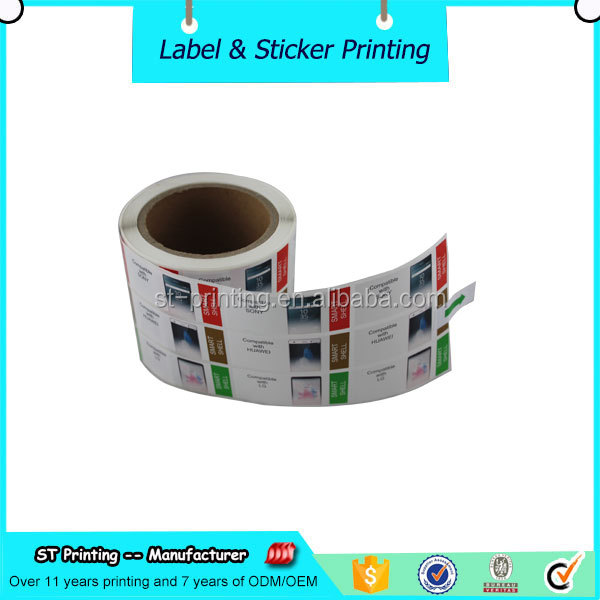 self adhesive cell phone sticker label,vinyl sticker material
