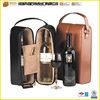 2014 New Design Leather Wine holder Carrier Christmas Gift Wine Glass Holder