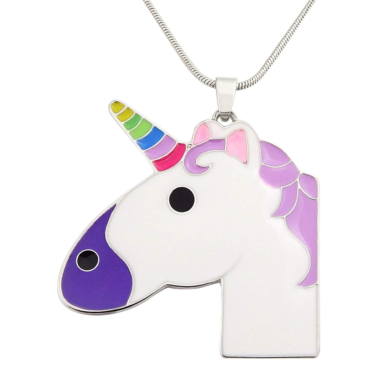 LSL Unicorn Necklace- Unicorn Rainbow Horn Necklace For Girls Kids Children Birthday Gift Unicorn Jewelry