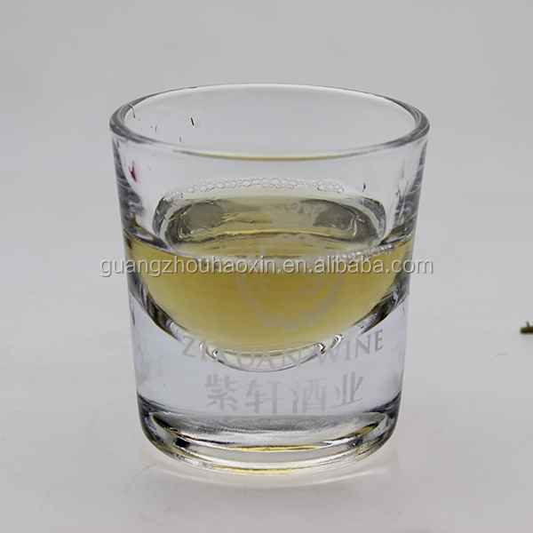 verre a vin fond plat