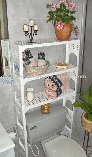 En el espacio de ba o ahorro de estanterias otro - Mueble para encima del inodoro ...
