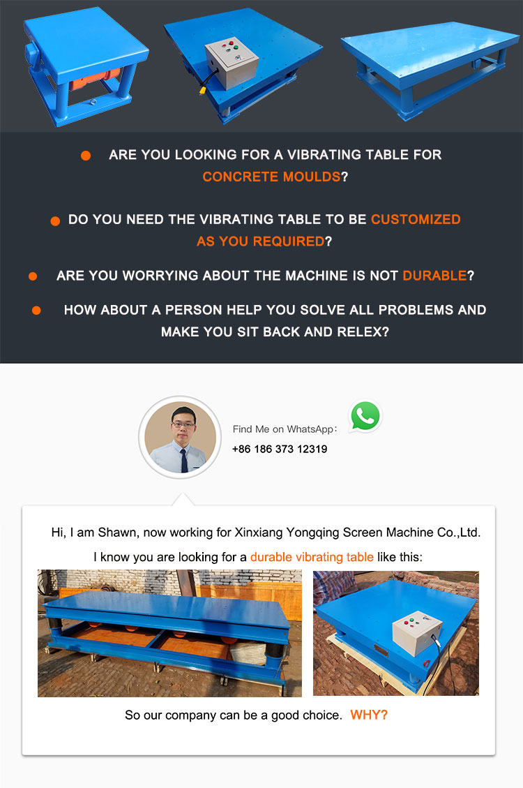 high frequency cement molding vibrating table machine