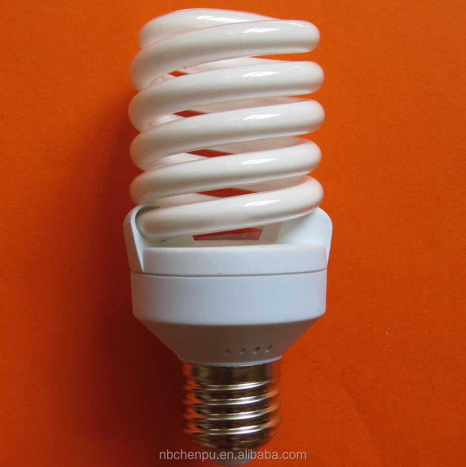 Ningbo Factory CE EMC LVD RoHS SASO approved 24 watt 2700K E27 E14 T2 full spiral electronic ballast wholesale cfl bulbs