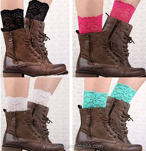 2015 new Europe leg warmers Short lace to foot Joker boots hollow lace boot cuff