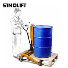 Sinolift DTR Series Portable Manual Hydraulic Oil Drum Trolley for 55 Gallon Barrel
