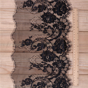 25cm Guangzhou Supplier Good Quality Polyester Mesh Lace Border Fashion Flower Lace Trim for Wholesale C256
