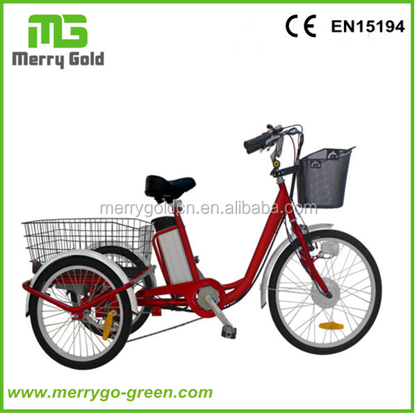 High Quality 250W Lithium Battery 3 three wheel Electric Bicycle Bikes for adults