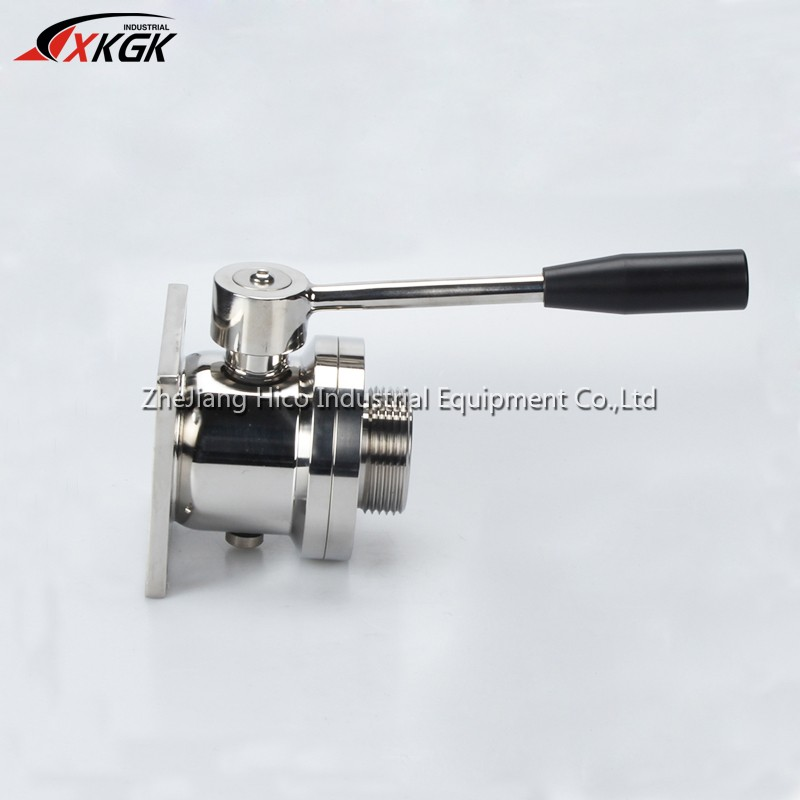 Top quality Manual Single Quatet Flange Single Thread Wine Ball Valve With Pull Handle