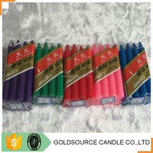 Different color color chime candles for deco home party