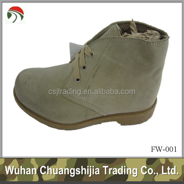 Military suede leather work ankle mens boot